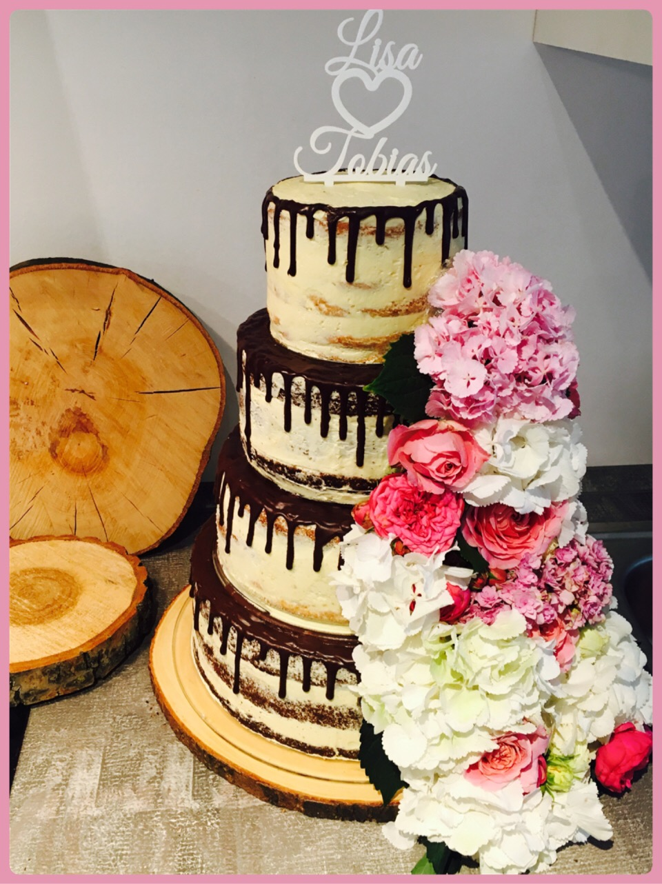 Naked Drip Cake Hochzeitstorte Fur Lisa Und Tobias Homemade By Kati
